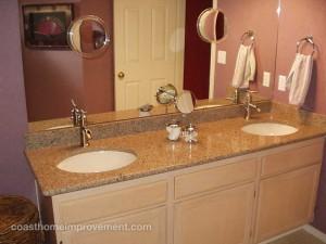 Auburn Cabinets & Counters Bathroom Custom Countertops Remodel Coast Home Improvement